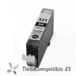 Tintas compatibles Canon CLI 521BK Negro