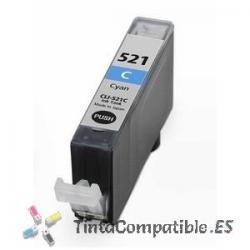 Tintas compatibles Canon CLI 521 Cyan