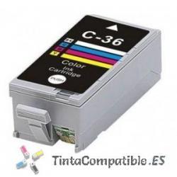 Tintas compatibles Canon CLI 36 color