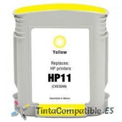 Tinta compatible HP 11 amarillo