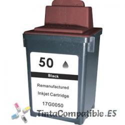 Tinta compatible Lexmark 50 negro