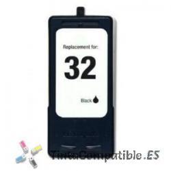 Tinta compatible Lexmark 32 Negro