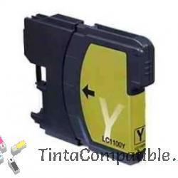 Cartucho LC980, LC1100 Amarillo, tinta compatible para impresora Brother
