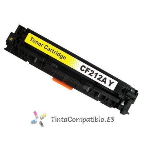 Toner compatible CF212 amarillo
