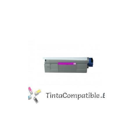www.tintacompatible.es / Cartucho de toner reciclados OKI C5850 / C5950 maganta