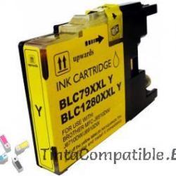 Cartuchos compatibles Brother LC1280XL amarillo