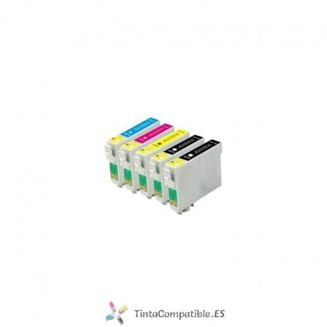 Pack ahorro de Cartuchos compatibles Epson T1285: T1281 / T1282 / T1283 / T1284