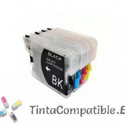 Pack ahorro de Cartucho compatible BROTHER LC970 - LC1000: NEGRO - CYAN - MAGENTA - AMARILLO - 25 y 20 ML
